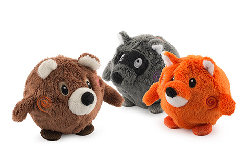 Bouncing Woodland Friends Fox/Bear/Racoon Small - 3 litir
