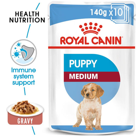 SHN Medium Puppy wet 10x140gr