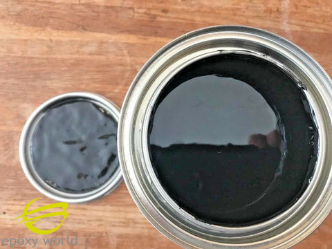Professional Grade Black  GELCOAT by Epoxy World, no wax, 16-128 oz w/ MEKP