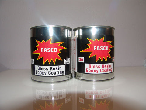 Fasco 39 Clear Gloss Epoxy Resin Table Top Coat Kit