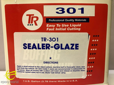 TR-301 Fiberglass MOLD SEALER AND GLAZE from TR INDUSTRIES 1 pint (16oz)