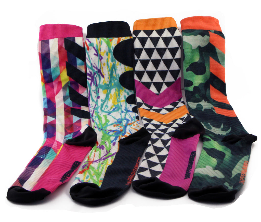 Womens Compression Socks - 4 Pack CAMO Edition