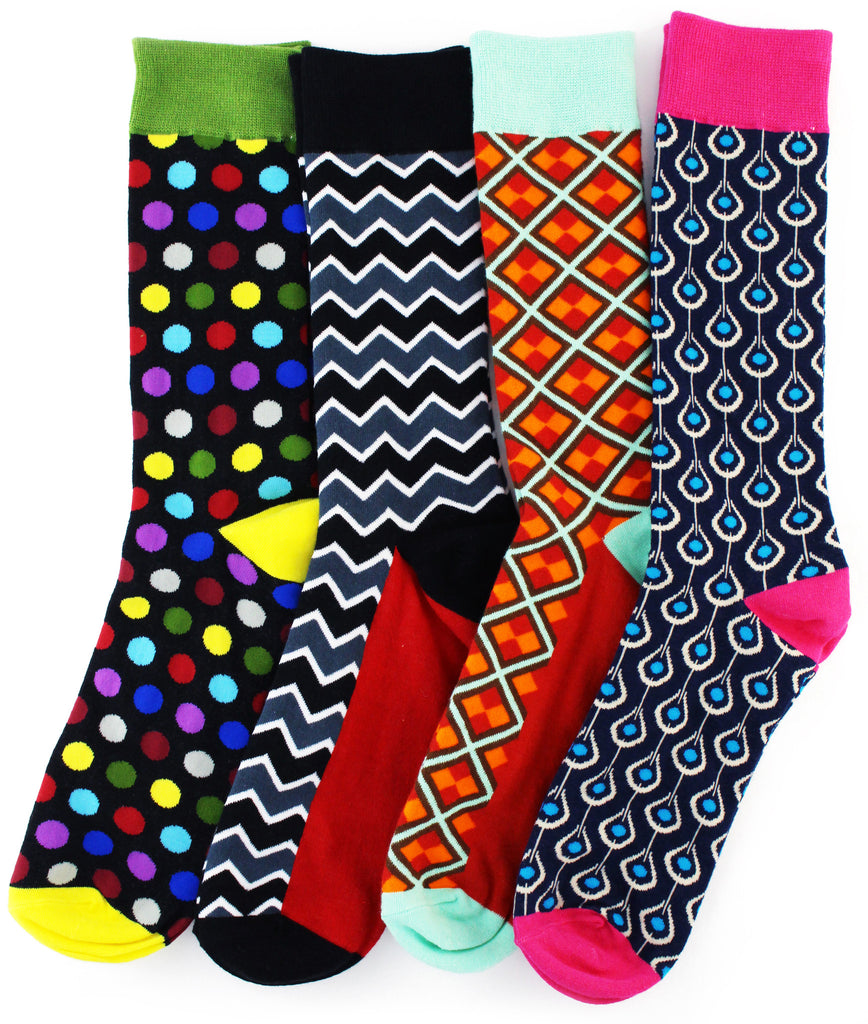 8 Pack Fun Socks - GREEN
