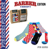 DapperGanger Fun Socks - 4 Pack - BARBER EDITION
