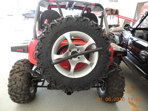 REBEL - OREION - DURUXX  SPIN ON SPARE TIRE HOLDER BUMPER DURUXX or Oreion buggies