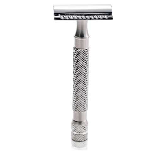 "The Handlebar Shaving Company's ""Dali"" Classic Stainless Steel Double Edge Safety Razor"