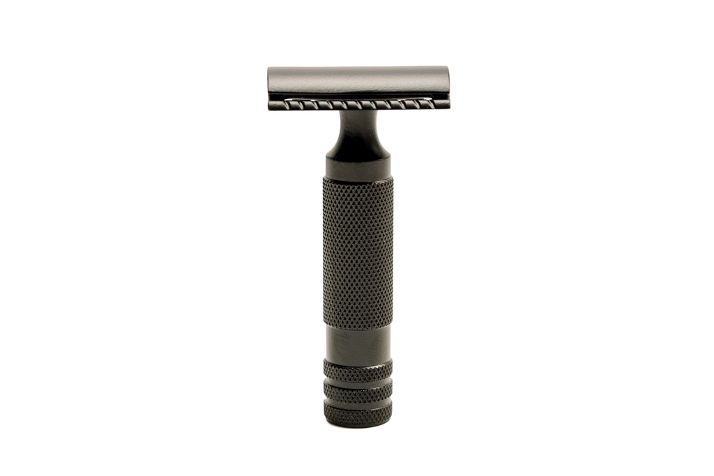 The Oculus Matte Black Stainless Steel Safety Razor