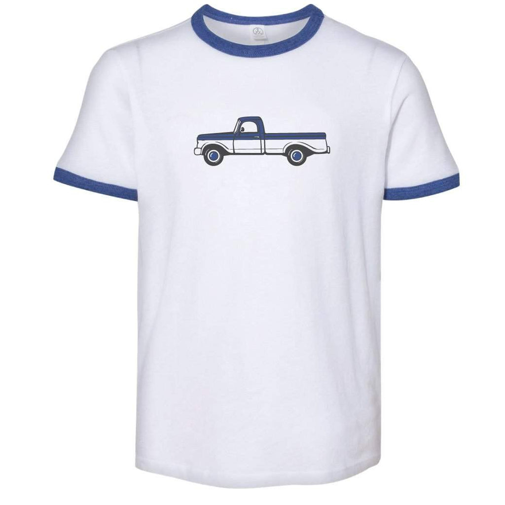 Adult 1965 Pick Up Truck Ringer Short Sleeve Tee