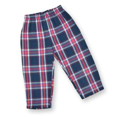 Navy Plaid Pants