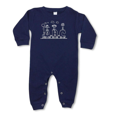 ABC Train Long Sleeve Infant Romper