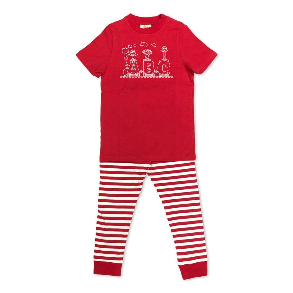 Short Sleeve ABC Train Sleepwear