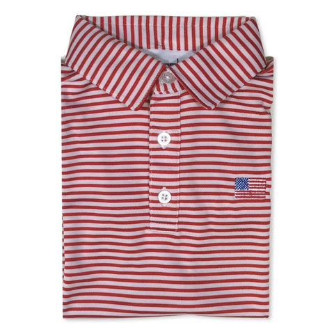 Flag Red Striped Polo