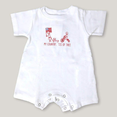 Patriotic Parade Short Sleeve Infant Romper