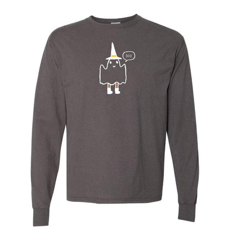 Friendly Ghost Adult Long Sleeve Tee