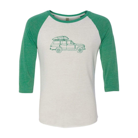 Oh Christmas Tree Adult Raglan Tee