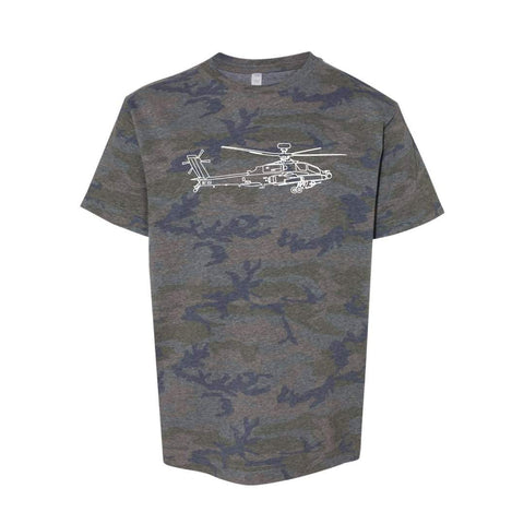 Apache Helicopter Short Sleeve Tee