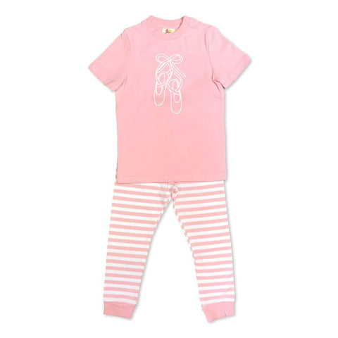 Short Sleeve Ballet Slippers Sleepwear