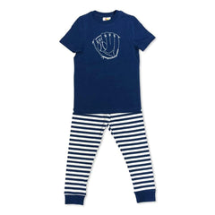 Short Sleeve Baseball Glove Sleepwear