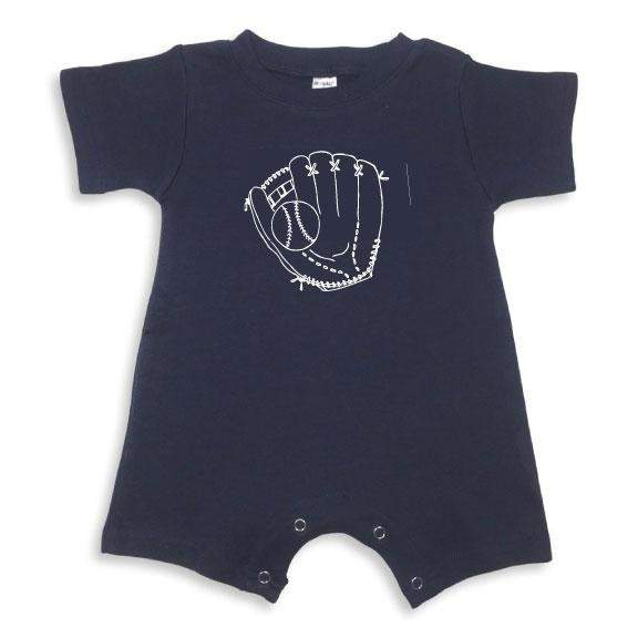 Baseball Glove Short Sleeve Infant Romper