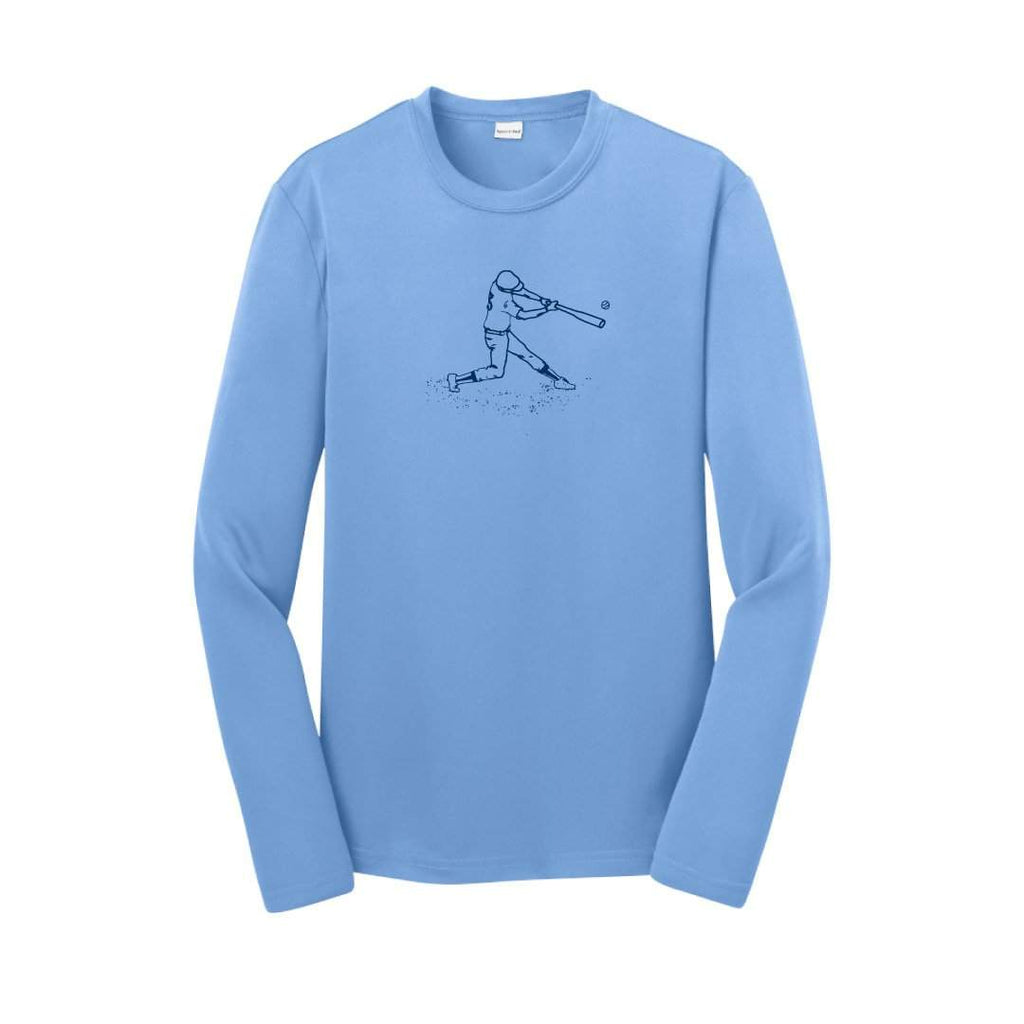 Baseball Player Long Sleeve Performance Tee