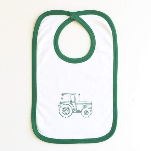 Big Green Tractor Infant Bib