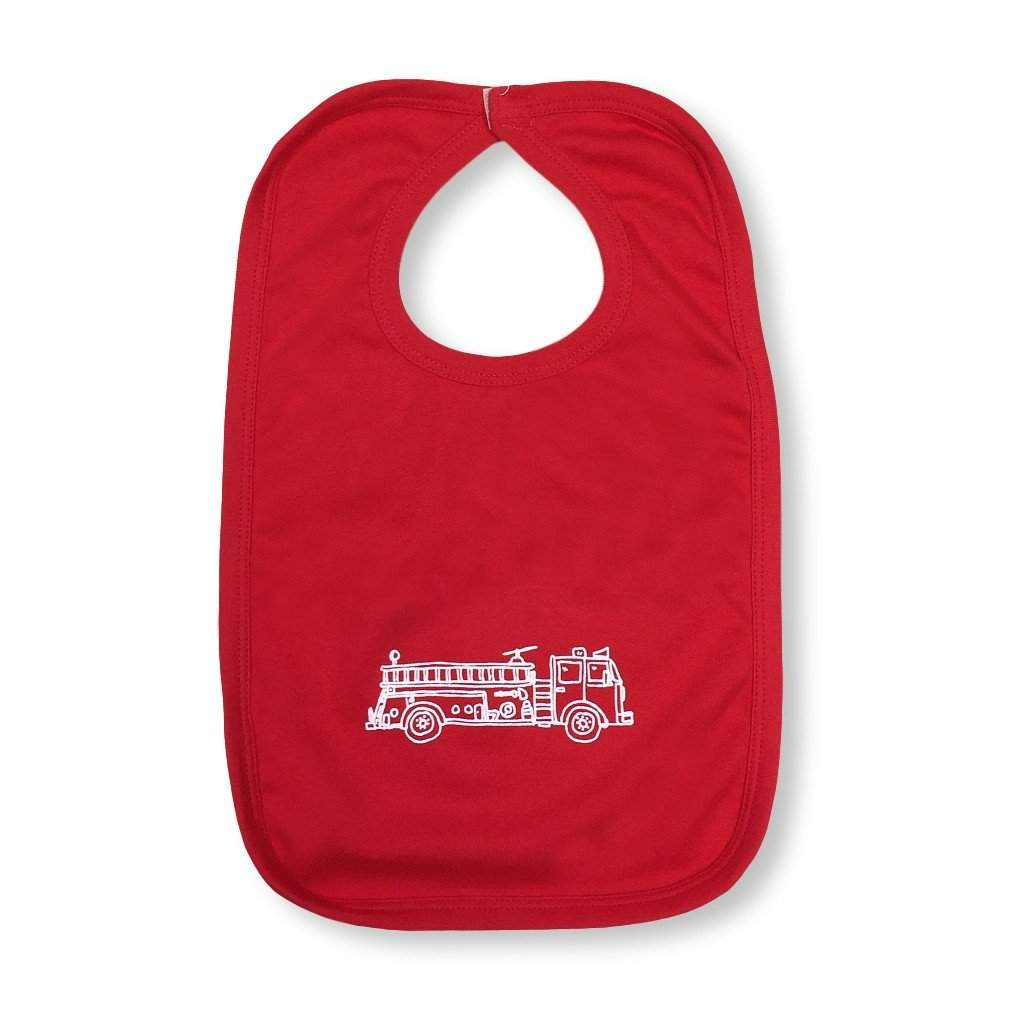 Fire Truck Infant Bib - Honey Bee Tees