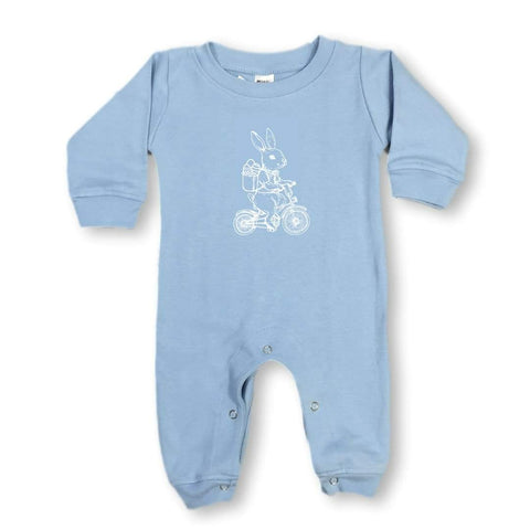 Bike Bunny Long Sleeve Infant Romper