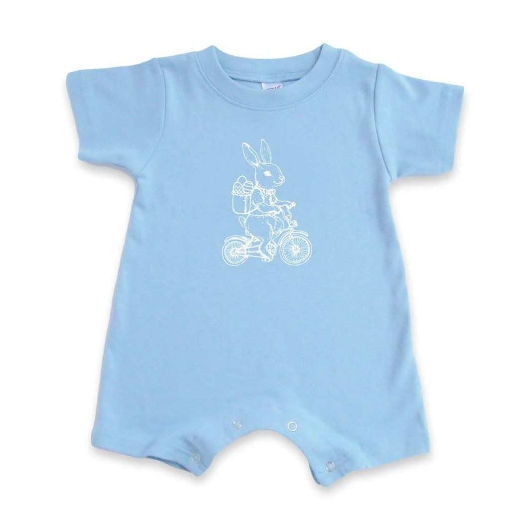 Bike Bunny Short Sleeve Infant Romper