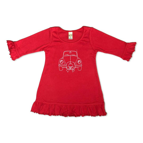 Christmas Ride 3/4 Ruffle Tunic