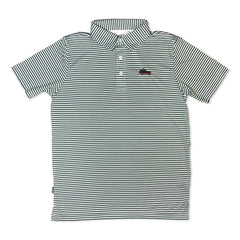 Oh Christmas Tree Green Striped Polo