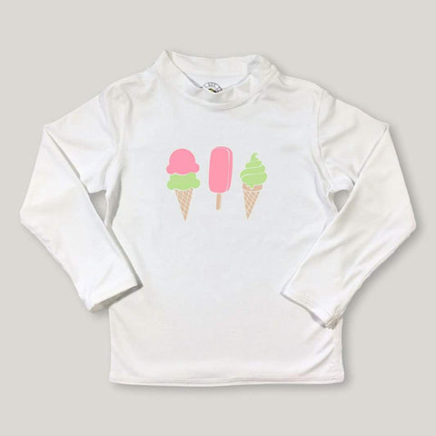 Ice Cream Treats Long Sleeve Rash Guard UPF 50+