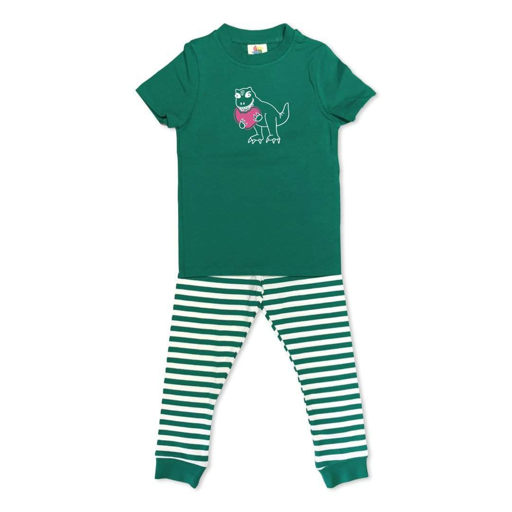 Dino Love Short Sleeve Pajamas