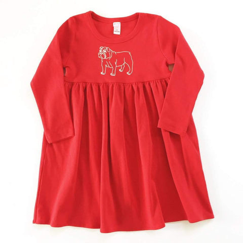 Bulldog Long Sleeve Dress