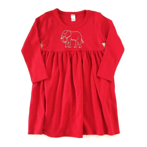Elephant Long Sleeve Dress