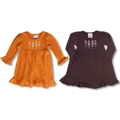 Thanksgiving Long Sleeve Dress - Honey Bee Tees - 1