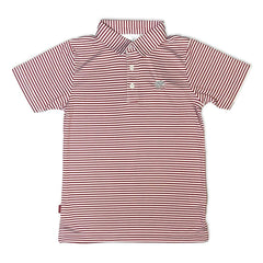 Elephant Cardinal Striped Polo