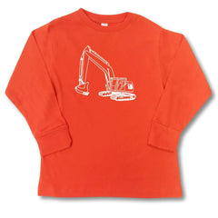 Excavator Orange Long Sleeve Tee