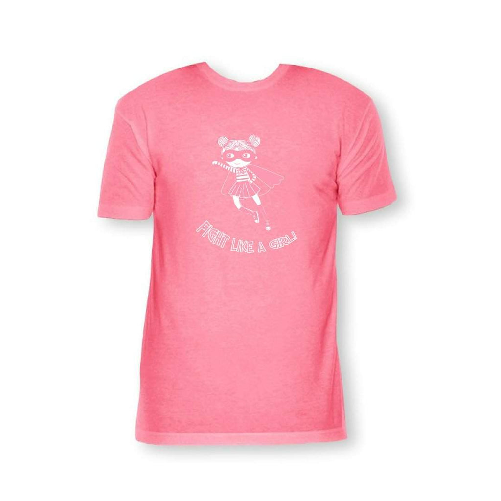 Fight Like a Girl Short Sleeve Tees - Breast Cancer Awareness
