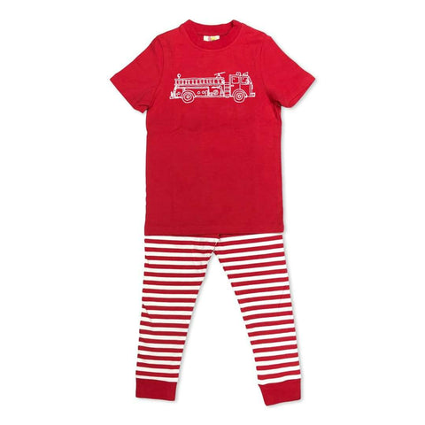Short Sleeve Fire Truck Sleepwear