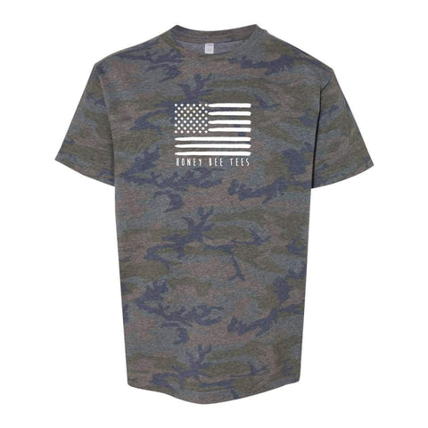 Flag Camo Short Sleeve Tee