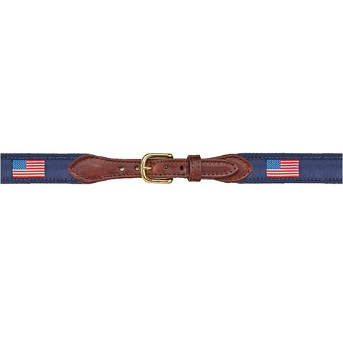 American Flag Leather Belt