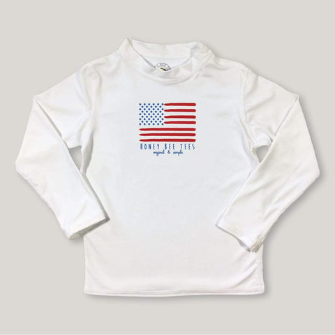 Flag Long Sleeve Rash Guard UPF 50+