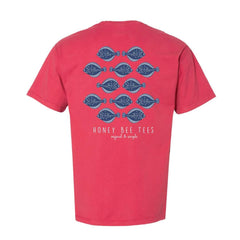 Adult Group of Flounder Short Sleeve Tee