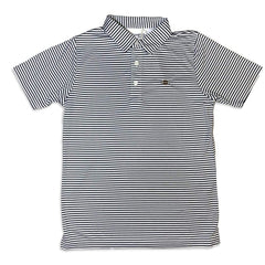 Football Navy Striped Polo