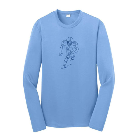 Football Player Long Sleeve Performance Tee
