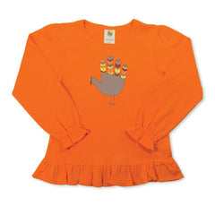 Give Thanks Long Sleeve Ruffle Tee