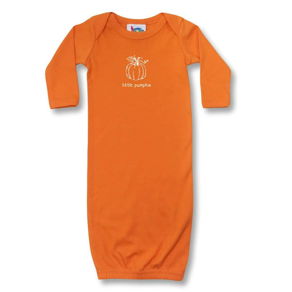 Little Pumpkin Infant Day Gown - Honey Bee Tees