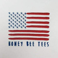 Flag Children's White Twill Hat - Honey Bee Tees - 2