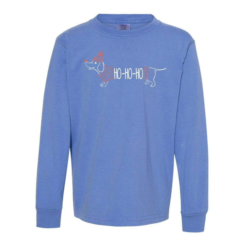 HoHoHo Dog Adult Long Sleeve Tee