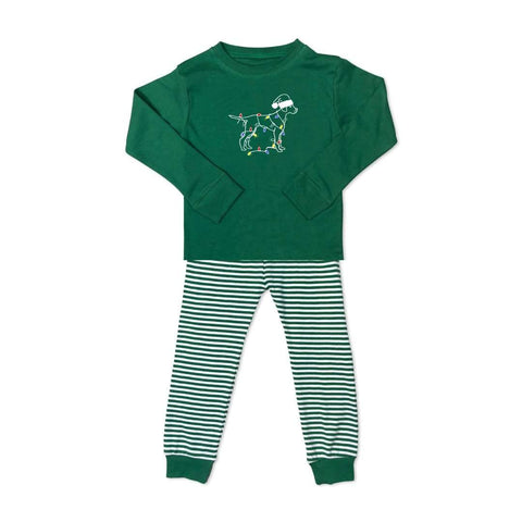 Jingle Dog Long Sleeve Striped Sleepwear